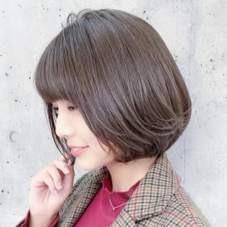 ショートボブ ミニボブ ハイライト 大人可愛い ヘアスタイルや髪型の写真・画像