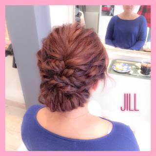 ねじり ショート セミロング ヘアアレンジ ヘアスタイルや髪型の写真・画像 ヘアスタイルや髪型の写真・画像