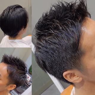 デート ナチュラル ショート メンズ ヘアスタイルや髪型の写真・画像