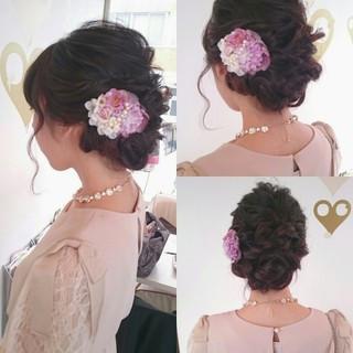 ロング ゆるふわ フェミニン ブライダル ヘアスタイルや髪型の写真・画像