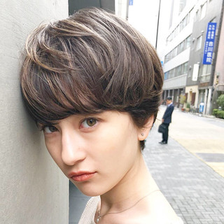 簡単ヘアアレンジ ショート ナチュラル アンニュイほつれヘア ヘアスタイルや髪型の写真・画像 ヘアスタイルや髪型の写真・画像