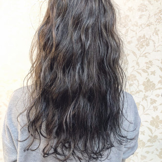 アディクシーカラー ナチュラル ハイライト セミロング ヘアスタイルや髪型の写真・画像
