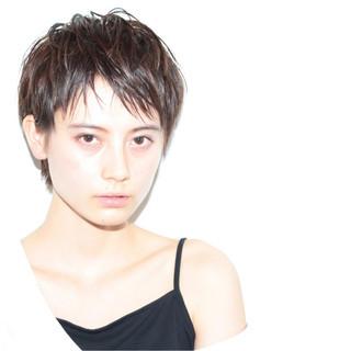 ナチュラル ショート ヘアアレンジ アッシュ ヘアスタイルや髪型の写真・画像