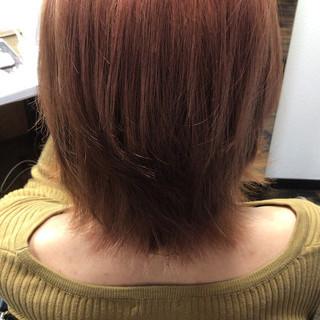 暖色 ツヤツヤ ナチュラル ボブ ヘアスタイルや髪型の写真・画像