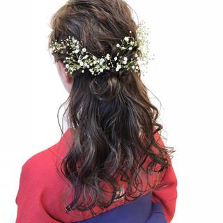 ヘアアレンジ 成人式 結婚式 簡単ヘアアレンジ ヘアスタイルや髪型の写真・画像