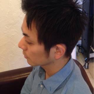 黒髪 ショート ボーイッシュ ウェットヘア ヘアスタイルや髪型の写真・画像
