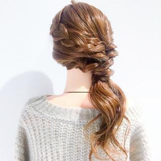 バレンタイン フェミニン アンニュイ アウトドア ヘアスタイルや髪型の写真・画像