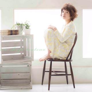 大人かわいい ショート 春 ガーリー ヘアスタイルや髪型の写真・画像