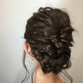 デート 結婚式 パーティ セミロング ヘアスタイルや髪型の写真・画像 ヘアスタイルや髪型の写真・画像