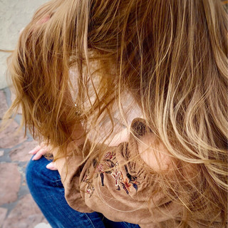 アッシュ ナチュラル ハイライト ロング ヘアスタイルや髪型の写真・画像