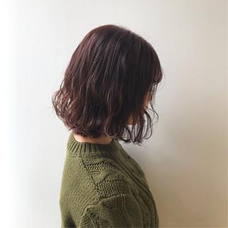 切りっぱなしボブ ナチュラル ハイライト 暖色 ヘアスタイルや髪型の写真・画像