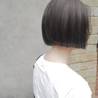 デート ボブ ナチュラル オフィス ヘアスタイルや髪型の写真・画像