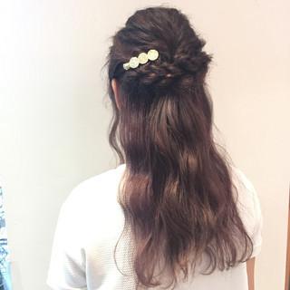 簡単ヘアアレンジ ロング デート 女子会 ヘアスタイルや髪型の写真・画像