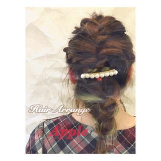 ショート 簡単ヘアアレンジ ヘアアレンジ ハーフアップ ヘアスタイルや髪型の写真・画像