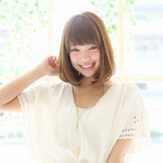ガーリー フェミニン モテ髪 卵型 ヘアスタイルや髪型の写真・画像