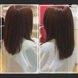 オフィス ナチュラル 髪質改善 髪質改善カラー ヘアスタイルや髪型の写真・画像