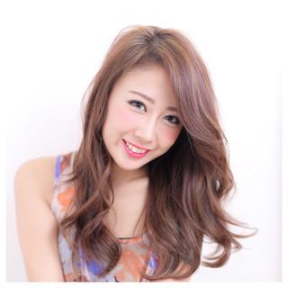 外国人風 ブラウン 大人かわいい パーマ ヘアスタイルや髪型の写真・画像