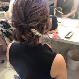 デート 簡単ヘアアレンジ ナチュラル 結婚式 ヘアスタイルや髪型の写真・画像 ヘアスタイルや髪型の写真・画像