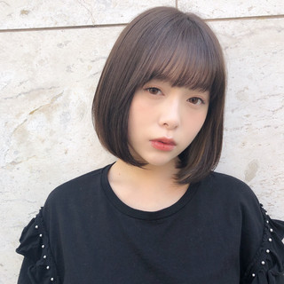 大人女子 デート ミニボブ 大人かわいい ヘアスタイルや髪型の写真・画像