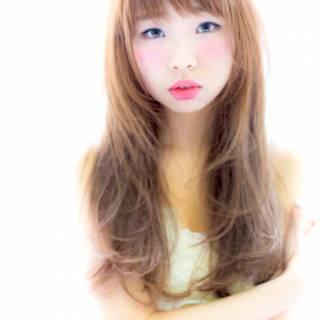 愛され シースルーバング フェミニン モテ髪 ヘアスタイルや髪型の写真・画像