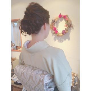 ヘアアレンジ エレガント 結婚式 ボブ ヘアスタイルや髪型の写真・画像