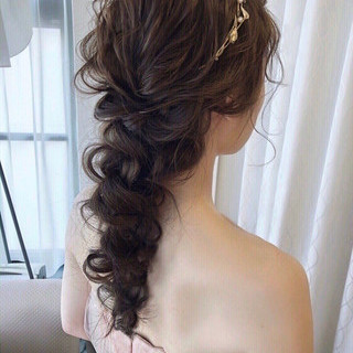 ヘアアレンジ ゆるナチュラル おしゃれさんと繋がりたい 結婚式ヘアアレンジ ヘアスタイルや髪型の写真・画像