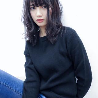 黒髪 デジタルパーマ 前髪あり パーマ ヘアスタイルや髪型の写真・画像 ヘアスタイルや髪型の写真・画像