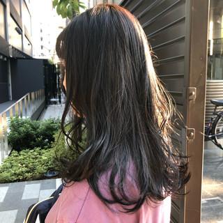 デート 黒髪 ロング オフィス ヘアスタイルや髪型の写真・画像