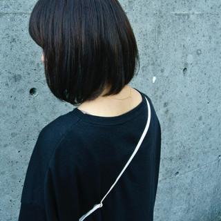 黒髪 ナチュラル ワンレングス ボブ ヘアスタイルや髪型の写真・画像