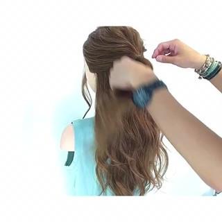 フェミニン ヘアアレンジ デート オフィス ヘアスタイルや髪型の写真・画像