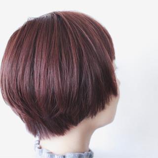 秋 ブラウン ボブ マッシュ ヘアスタイルや髪型の写真・画像