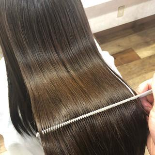 髪質改善カラー 髪質改善トリートメント 縮毛矯正 ロング ヘアスタイルや髪型の写真・画像