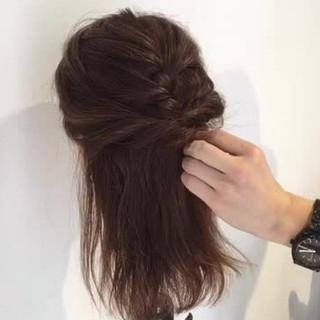 セミロング デート 女子会 オフィス ヘアスタイルや髪型の写真・画像