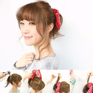 ナチュラル 抜け感 セルフヘアアレンジ デート ヘアスタイルや髪型の写真・画像