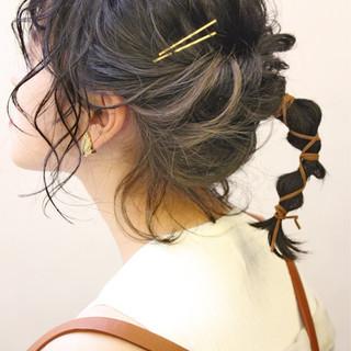 ボブ 夏 ナチュラル 編み込み ヘアスタイルや髪型の写真・画像