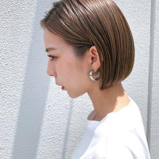 成人式 ショート 透け感 アウトドア ヘアスタイルや髪型の写真・画像