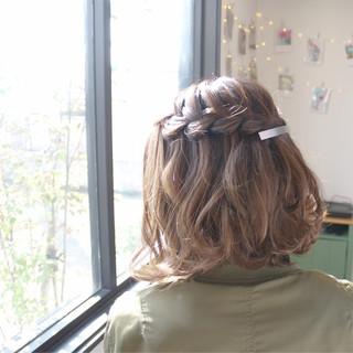 ウォーターフォール 二次会 色気 ヘアアレンジ ヘアスタイルや髪型の写真・画像