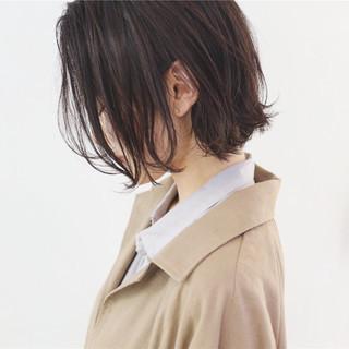 ラフ ナチュラル オフィス ボブ ヘアスタイルや髪型の写真・画像