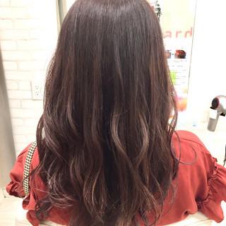 フェミニン ゆるふわ ロング グラデーションカラー ヘアスタイルや髪型の写真・画像