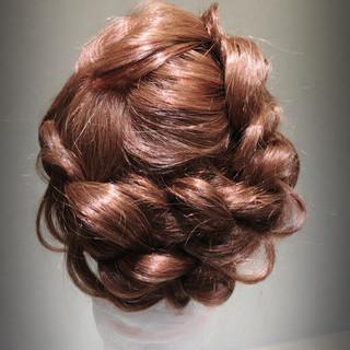 フェミニン 謝恩会 ヘアアレンジ ロング ヘアスタイルや髪型の写真・画像
