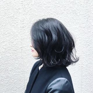 ボブ アッシュ 外国人風 黒髪 ヘアスタイルや髪型の写真・画像