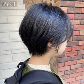 黒髪 ショート ショートヘア 大人可愛い ヘアスタイルや髪型の写真・画像