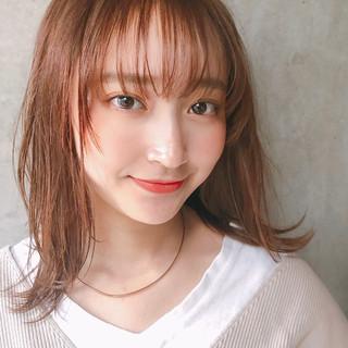 大人かわいい アンニュイほつれヘア ミディアム デジタルパーマ ヘアスタイルや髪型の写真・画像
