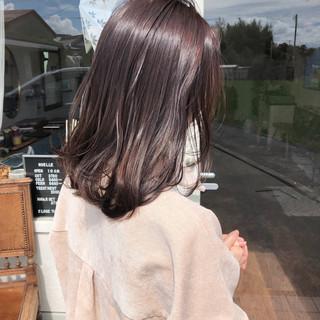 ブラウン アッシュブラウン ピンクブラウン ナチュラル ヘアスタイルや髪型の写真・画像