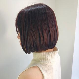イルミナカラー ミニボブ 大人可愛い ショートボブ ヘアスタイルや髪型の写真・画像