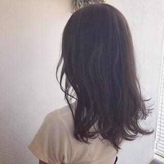 ナチュラル ヘアアレンジ グレージュ セミロング ヘアスタイルや髪型の写真・画像