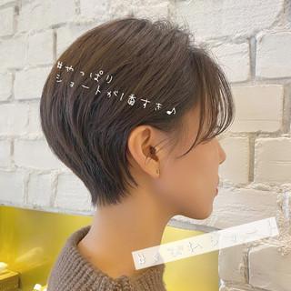 ショートヘア 大人かわいい ショート ハンサムショート ヘアスタイルや髪型の写真・画像