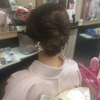 ナチュラル 着物 結婚式 ヘアアレンジ ヘアスタイルや髪型の写真・画像