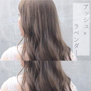 ナチュラル イルミナカラー 透明感カラー ミディアム ヘアスタイルや髪型の写真・画像