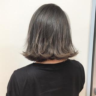 アッシュグレージュ ストリート グレージュ ボブ ヘアスタイルや髪型の写真・画像